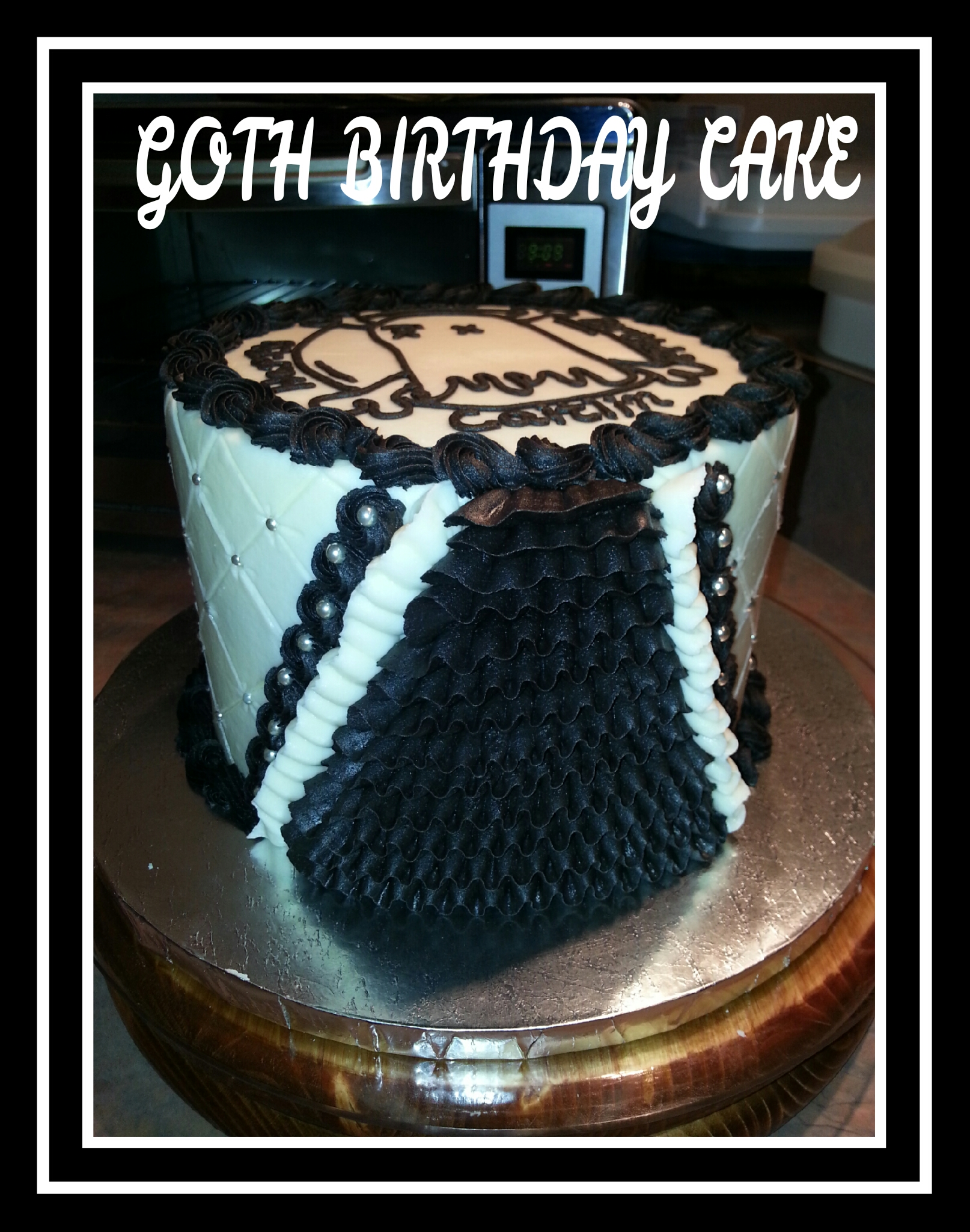 Goth Petticoat Ghost Town Birthday Cake Stephysweetbakes
